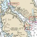 Location of Hydaburg, Eek Point and Round Point on Blanket Island. Image- NOAA Charts