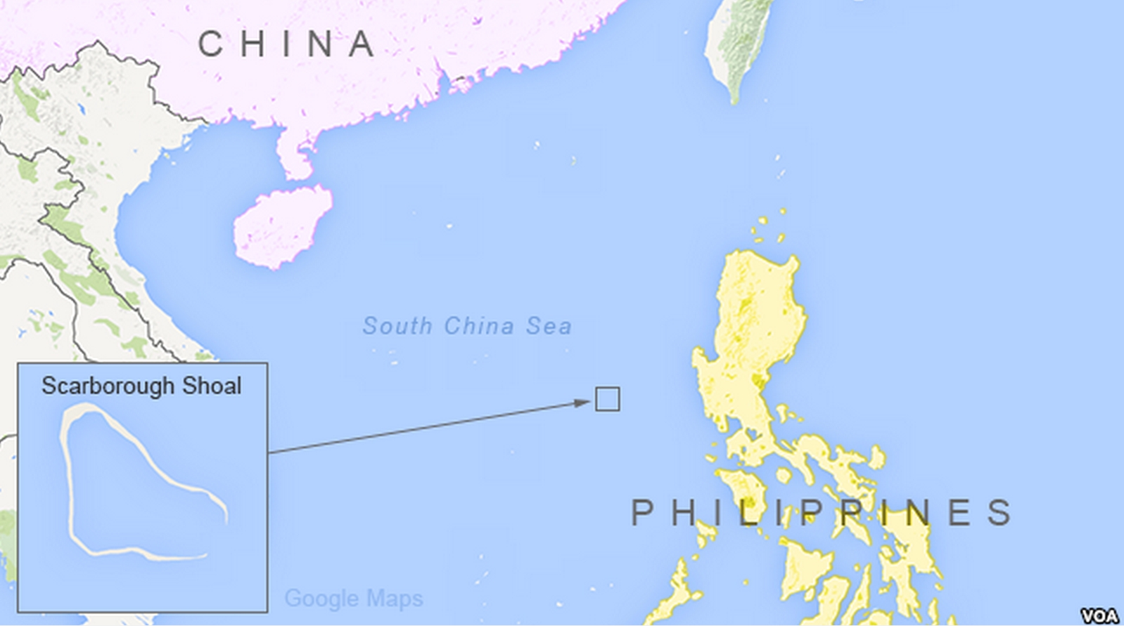 Scarborough Shoal in the South China Sea