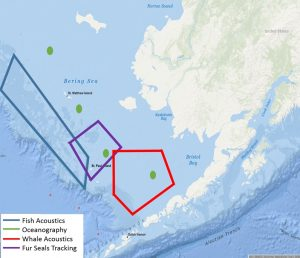 Saildrones will operate in four major locations the Bering Sea in 2016 to collect data on fish and whales. Image-NOAA