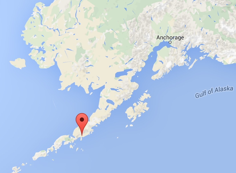 Location of Ivanof Bay on the Alaska Peninsula. Image-Google Maps