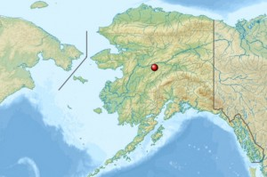 Location of the Nowitna Wildlife Refuge in Interior Alaska.