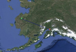 Troopers are seeking two travelers said to be traveling from St Marys to Anchorage via snow-machine. Image-Google