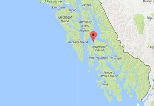 Location of the community of Kake in southeast Alaska. Image-Google maps