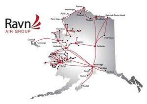 Ravn Air Destination Map
