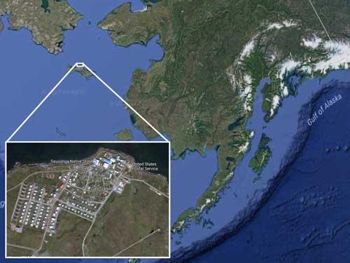 Location of Savoonga. Image-Google Maps