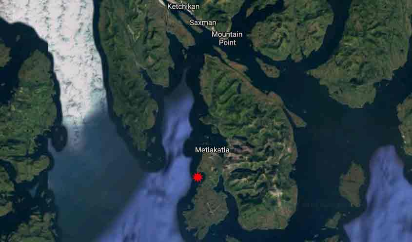Location of Smugglers Cove in Southeast Alaska. Image-Google Maps