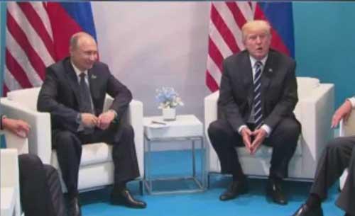 Putin and Trump in Germany. Image-CNN screenshot