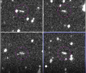 These are the discovery observations of asteroid 2018 LA from the Catalina Sky Survey, taken June 2, 2018. About eight hours after these images were taken, the asteroid entered Earth's atmosphere (about 9:44 a.m. PDT, 12:44 p.m. EDT, 16:44 UTC, 6:44 p.m. local Botswana time), and disintegrated in the upper atmosphere near Botswana, Africa.Image Credit: NASA/JPL-Caltech/CSS-Univ. of Arizona