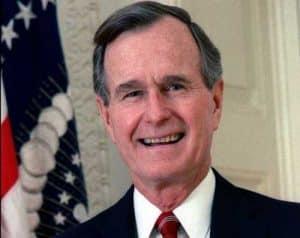 Former president, George Herbert Walker Bush, the 41st President of the United States. Image-Public Domain