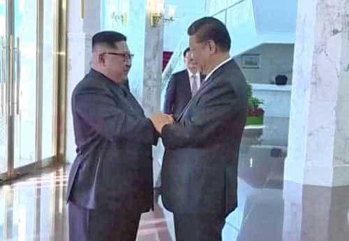 Kim Jong Un, leader of North Korea, and Deng Xiaoping, leader of China. Image-Video screengrab