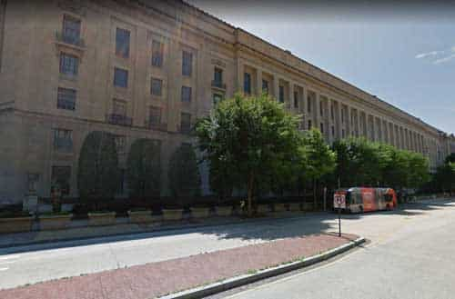 Department of Justice building in Washington DC. Image-Google Maps