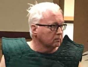 66-year-old Gary Hartman in court.