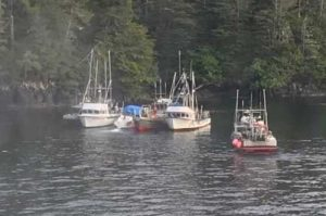 Good Samaritan vessels assist three adults and three children after their 27-foot cabin cruiser began taking on water near Long Island in Sitka Sound. USCG photo