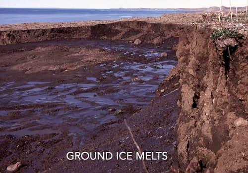 Ground Ice Melt. Image-University of Ottawa video screenshot