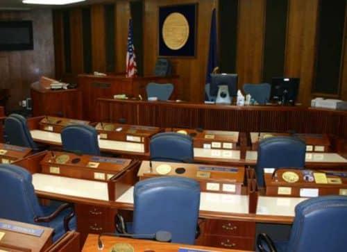 Alaska State Senate chambers. Image-Matt Howry