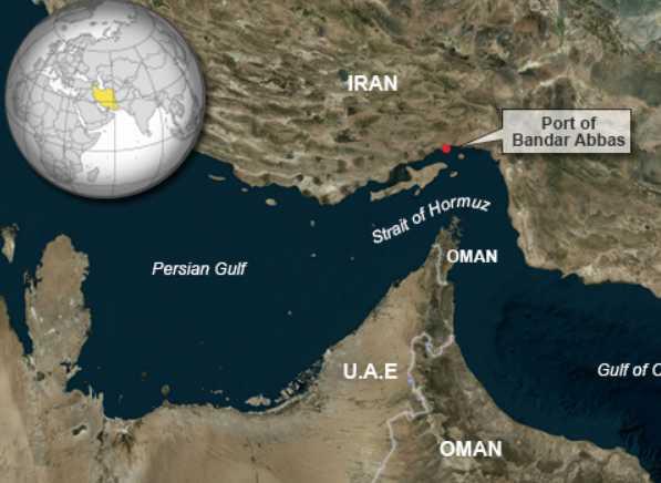 Stait of Hormuz map. VOA