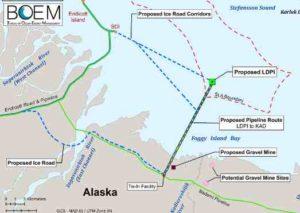 Bureau of Energy Management map showing area of proposed Liberty drilling pad. Image-BOEM