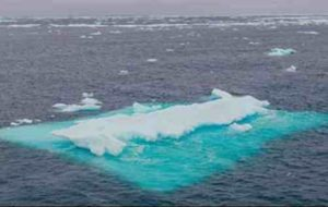 Arctic Ocean sea ice seen during a 2018 research cruise. Credit: San Nguyen