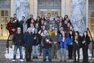 Alaska Young Fishermen's Summit participants at the Alaska State Capitol Building in Juneau. January 2020. Image-Alaska Sea Grant