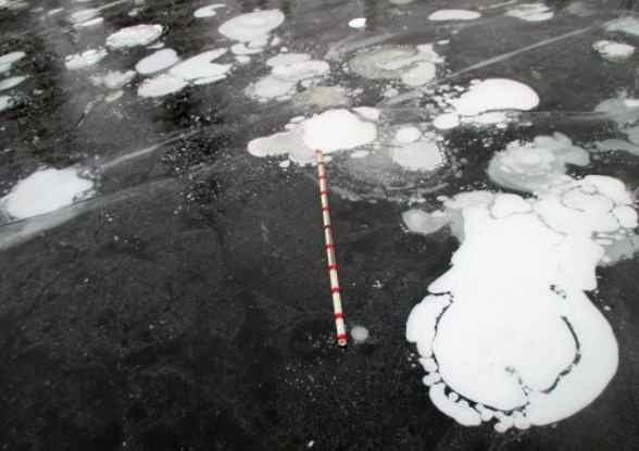 Radar Gauges Methane Release from Arctic Lakes