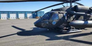 A UH-60 Black Hawk helicopter of 1st Battalion, 207th Aviation Regiment sits in Nome. (Courtesy photo)