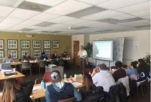 Leadership trainer Al Bolea at Alaska Sea Grant's Alaska Seafood Processing Leadership Institute in Anchorage.