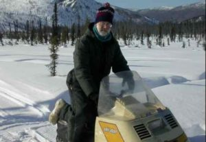 Will Harrison in the White Mouns National Recreation area in 2005. Image- Ned Rozell