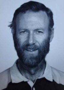 Geologist  Will Harrison in 1981. Geological Institute photo.