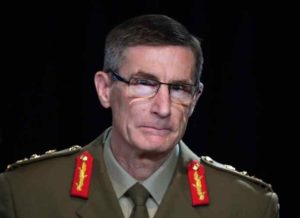 Chief of the Australian Defense Force Gen. Angus Campbell delivers the findings from the Inspector-General of the Australian Defense Force Afghanistan Inquiry, in Canberra, Nov. 19, 2020.