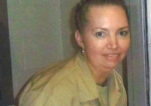 FILE - Convicted murderer Lisa Montgomery pictured at the Federal Medical Center Fort Worth in an undated photograph.
