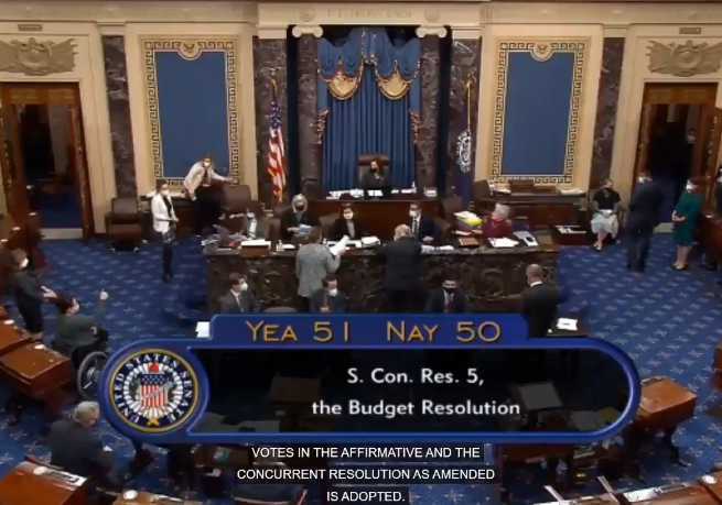 After 14+ Hours of Votes, Senate Approves Covid Relief Resolution With Zero GOP Support