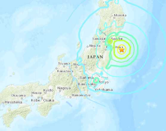 Powerful Quake Hits Near Fukushima