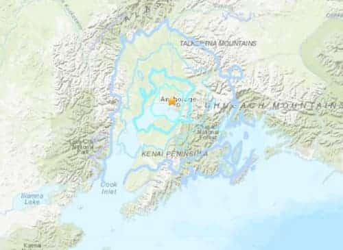 5.0 Quake Hits Anchorage Sunday Morning