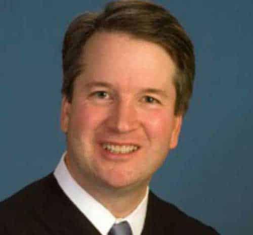 Trump's supreme court justice pick Brett Kavanaugh. Image-Facebook