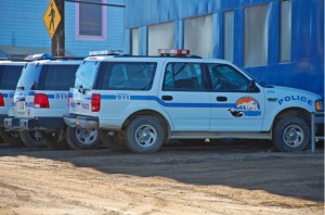 North Slope Borough Police SUVs in Barrow. (Creative Commons photo by Mack McKinley and Tim Wilson)