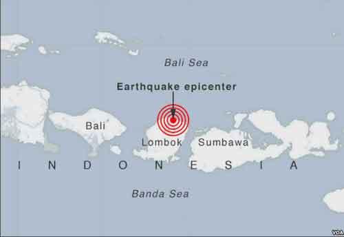 Deady Earthquake Rocks Indonesia Lombok Island