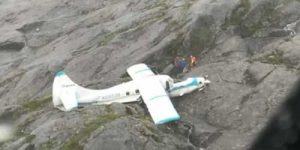 Mount Jumbo crash site of Dehaviland DHC-3 aircraft. Image-USCG
