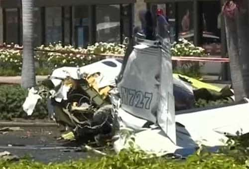 cessna crashes in california parking lot killing all five aboard