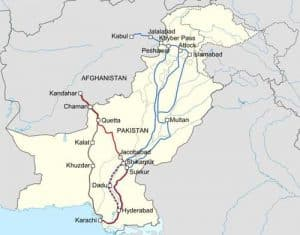 Work derivative based on the Pakistan location map created by NordNordWest.