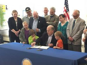 In Fairbanks, Governor Walker signed HB 16 into law. Image-State of Alaska