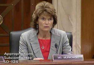 Senator Murkowski at a Senate Appropriations Committee hearing. Image-Office of Senator Murkowski