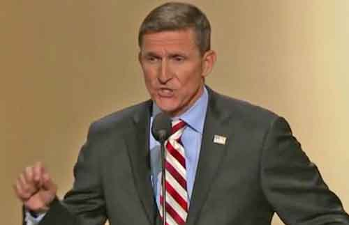 Retired Army General and ousted national security advisor, Michael Flynn.