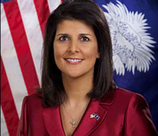 South Carolina Governor Nikki Haley has been chosen by President-Elect Trump as the Ambassador to the United Nations. Image-Sam Holland/State of South Carolina