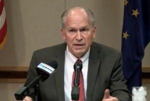 Governor Walker announcing the Gasline special session last month. Image-State of Alaska