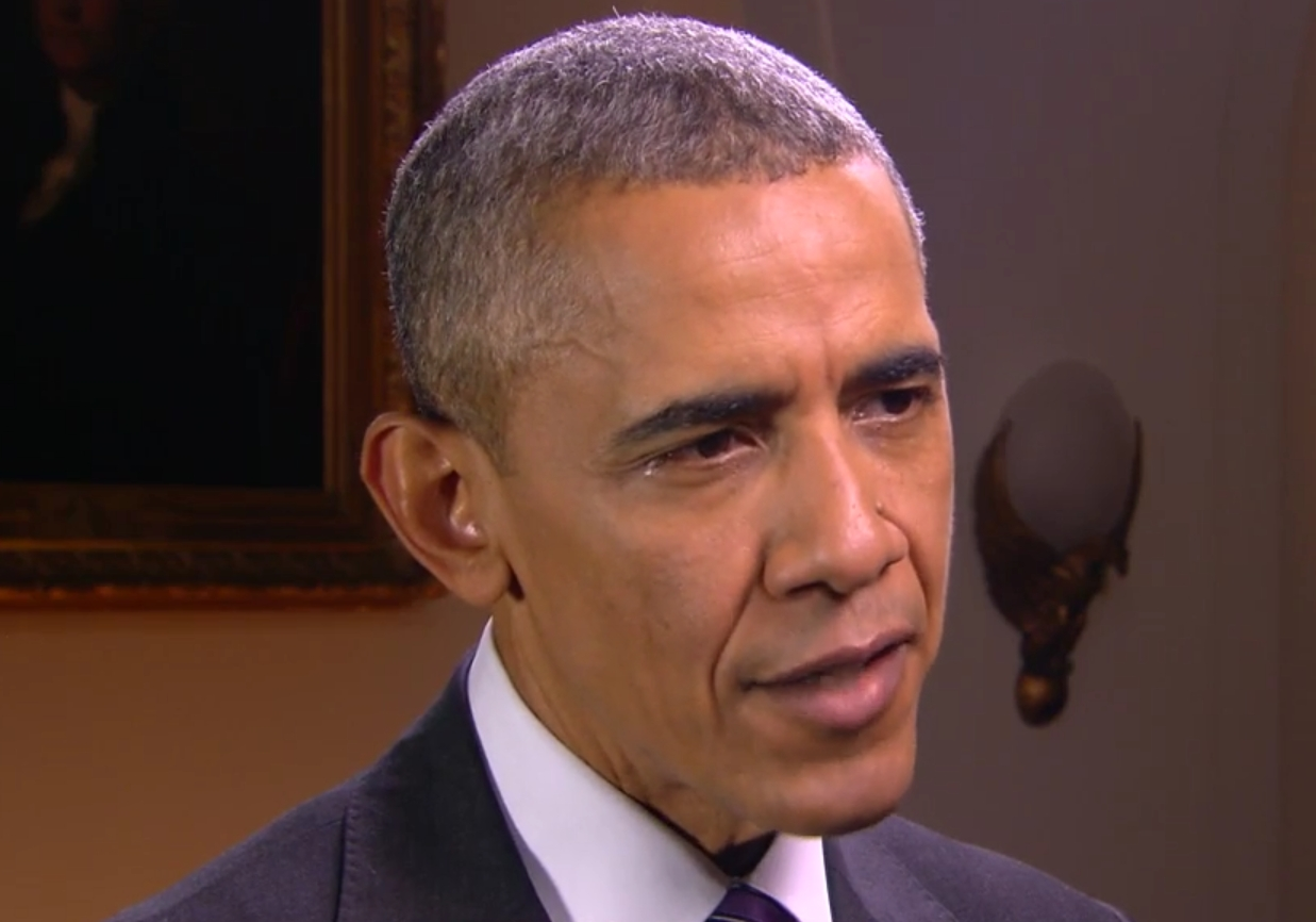 President Obama speaking at the White House on the mass shooting in California. Image-Screengrab
