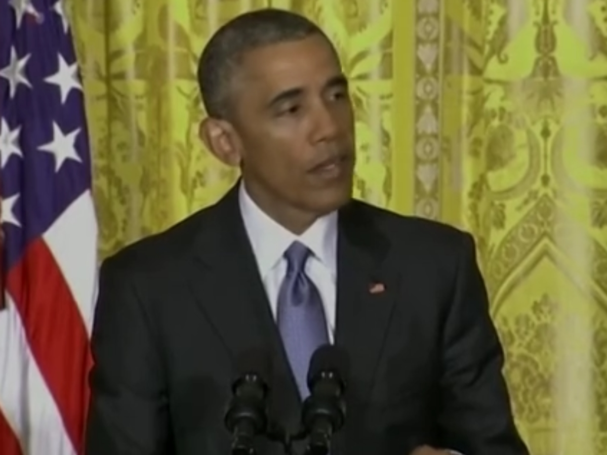 President Obama commenting on the water quality situation in Flint, Michigan. Image-VOA