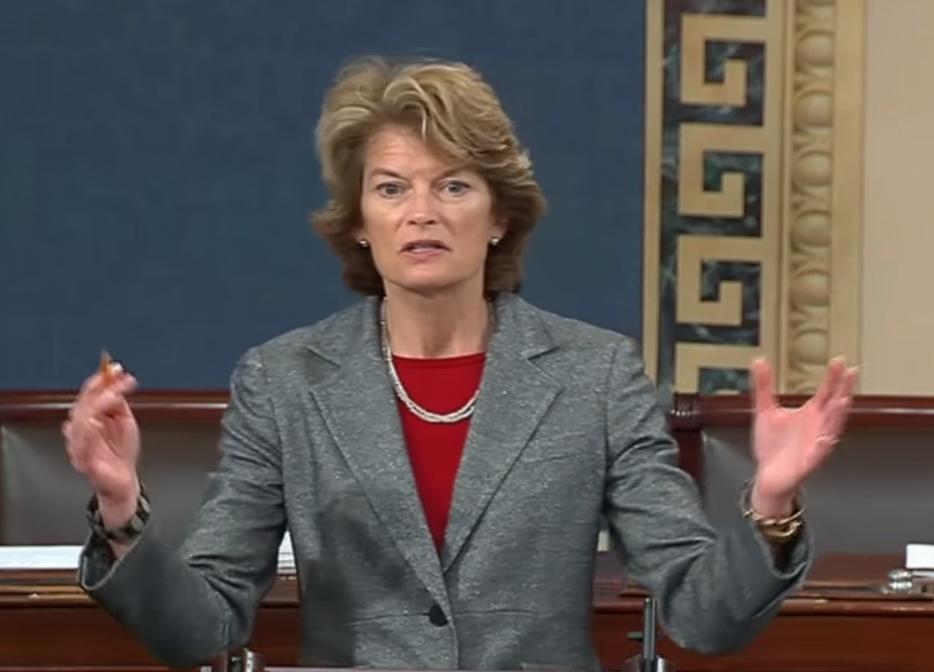 "Senator Murkowski speaking on the ""Affordable Care Act"" on the Senate floor. Image-Office of Senator Murkowski"