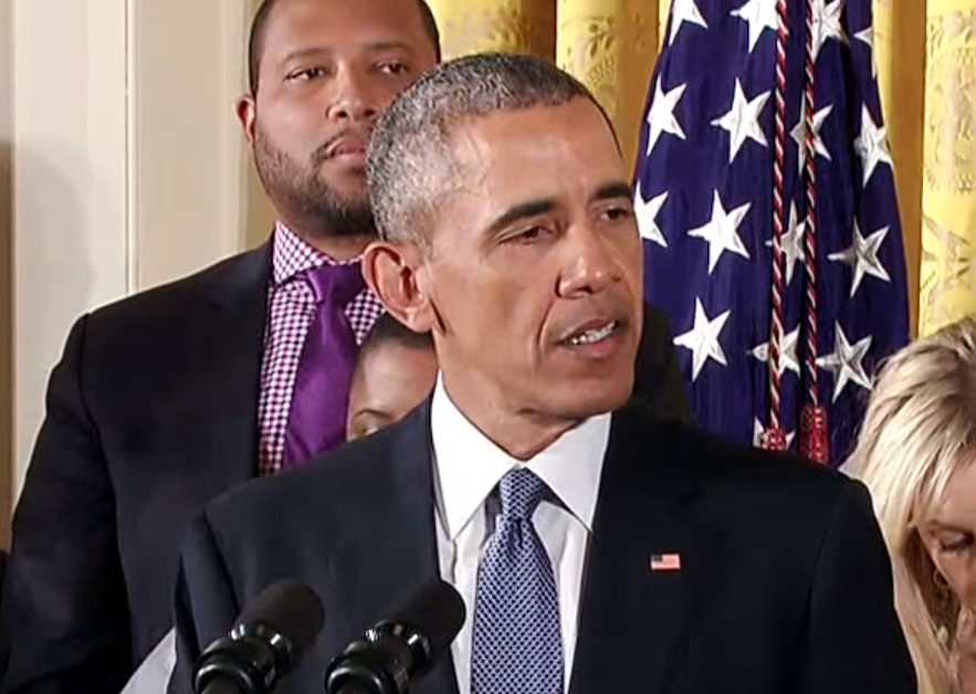 President Obama announcing his gun violence reduction plan on Tuesday. Image-White House