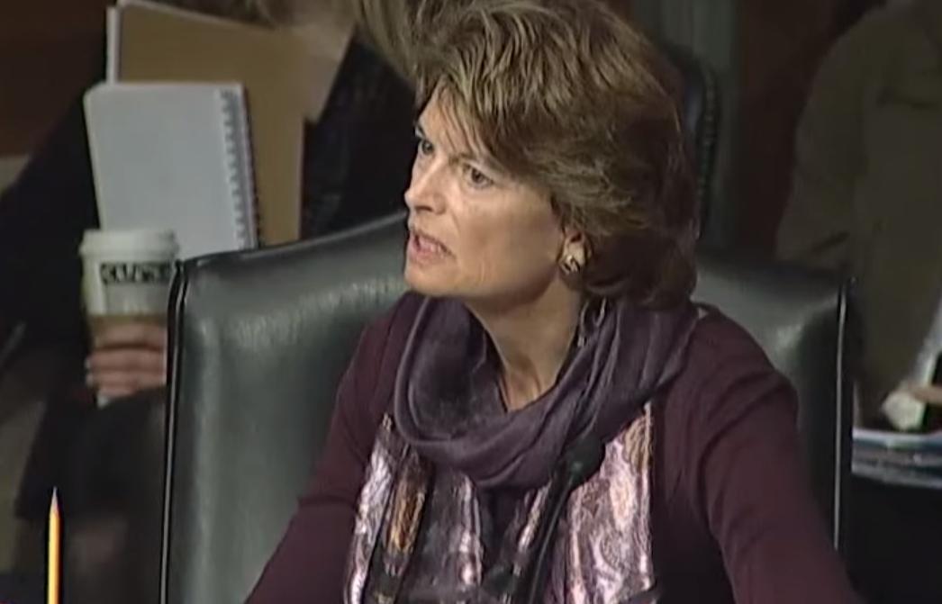 Senator Murkowski speaking against Frankenfish at Health, Education, Labor and Pensions Committee. Image-Office of Senator Murkowski