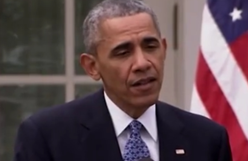 President Obama speaking outside the White House on the nomination of the yet his un-named choice for the Supreme Court. Image-VOA